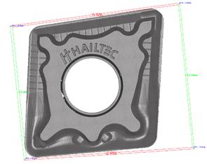 Pressstempel aus Hartmetall mit kleinsten Kantenradien